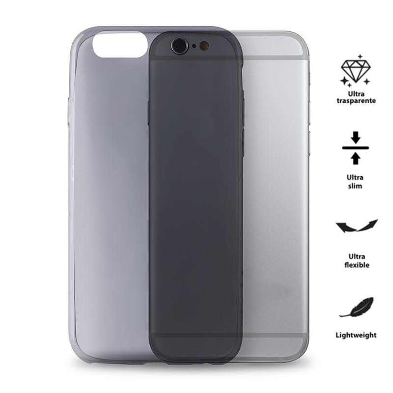 PURO 0.3 Nude - Etui iPhone 6/6s (czarny przezroczysty)