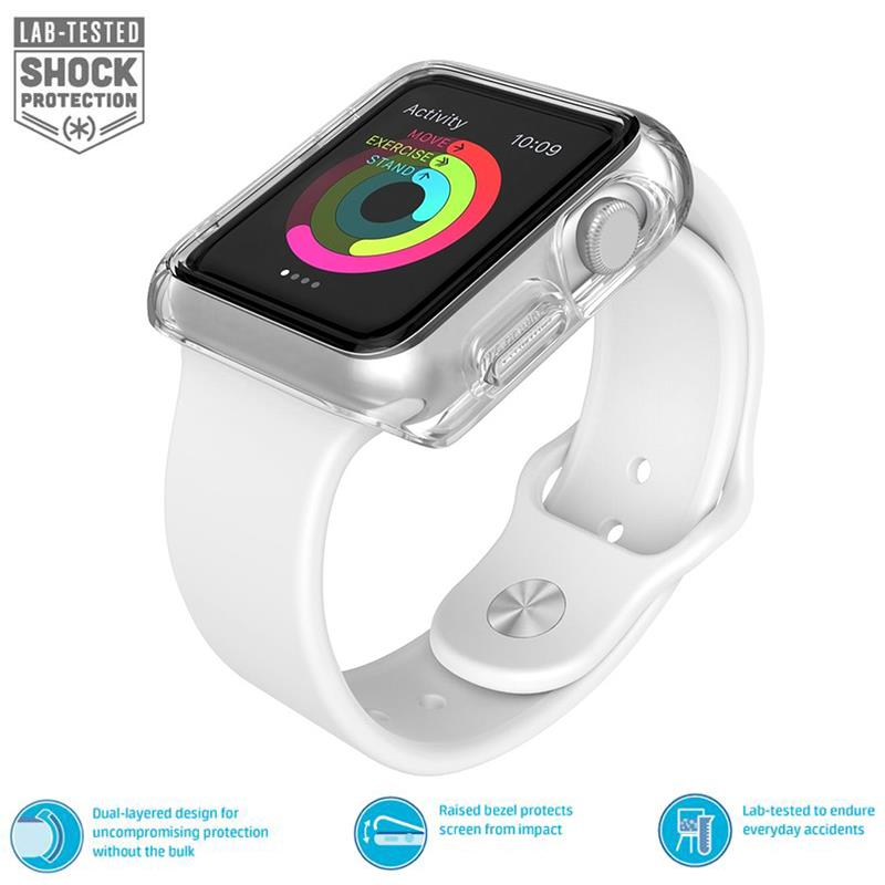 Speck CandyShell Fit – Bumper do Apple Watch 42mm (Clear/Clear)